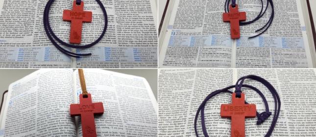 조수아 선교사 후원회 에코 우드 십자가 목걸이
